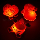5PCS 3-LED Latex Flashing / Luminous Badges / Brooches for Christmas