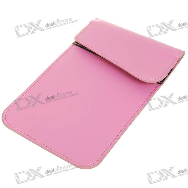 Cell Phone Signal Shield/Block Soft Leather Pouch - Pink