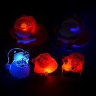 3-LED Latex Red + Blue LightFlashing Badges / Brooches (5PCS)