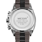 MEGIR 3009 Men's Quartz Analog Wrist Watch - Brown + Silver + White