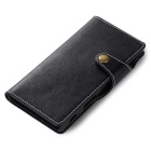 Cow Split Leather Case w/ Card Slots for Sony Xperia XZ - Black