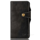 Cow Split Leather Case w/ Card Slots for Google Pixel - Black