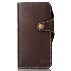 Cow Split Leather Case w/ Card Slots for Google Pixel XL - Brown