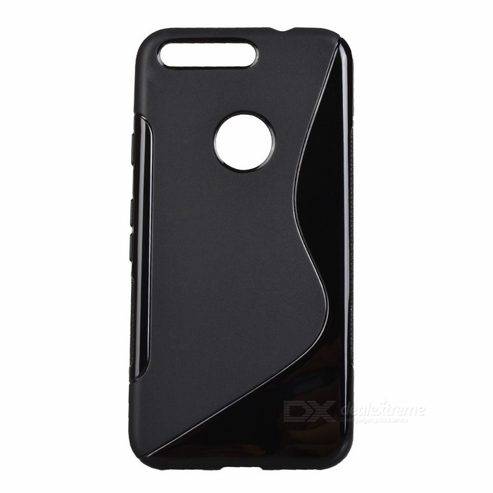 """S"" Style Protective TPU Back Case for Google Pixel - Black"