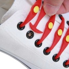 Horn-Shaped Cat Eye Silicone No Tie Lazy Shoelaces - Red (12 PCS)