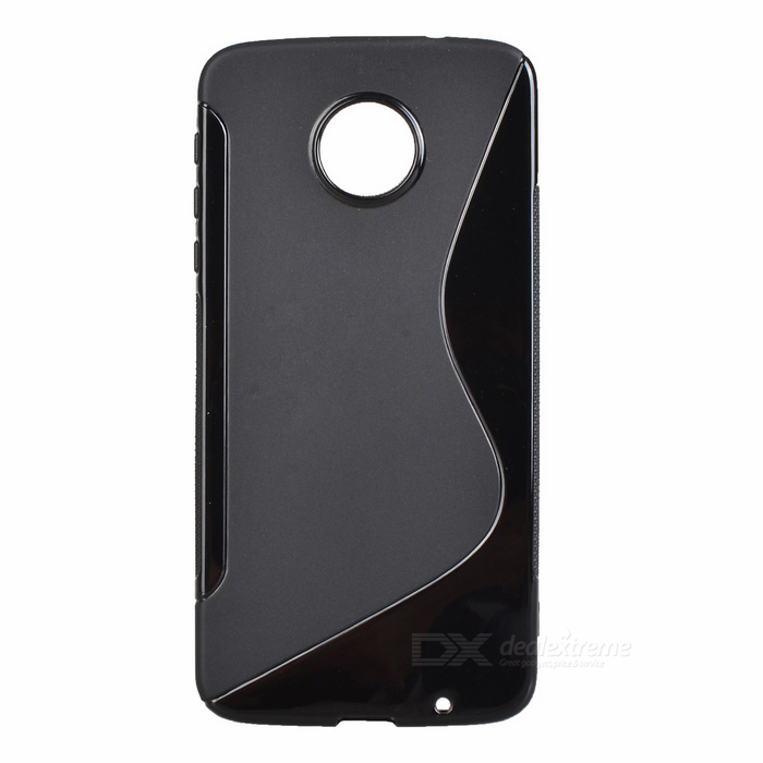 """S"" Style Protective TPU Back Case for MOTO Z - Black"