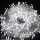 36W 600-LED Cool White Light 100m Twinkle String Lights - Transparent