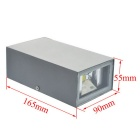 JIAWEN 6W Outdoor Waterproof IP65 Aluminum Warm White Light Wall Lamp