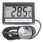 "Indoor / Outdoor 1.95"" LCD Digital Thermometer for Refrigerator / Aquarium + More (1 * LR44)"