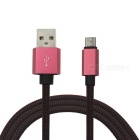 100cm Universal ABS Micro USB Data Sync Charging Cable - Red