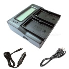 LCD Dual Charger with Car Charge Cable for Sony BP-U90 EX1R EX160 EX260 EX280 FS5 FS7 Camera Battery