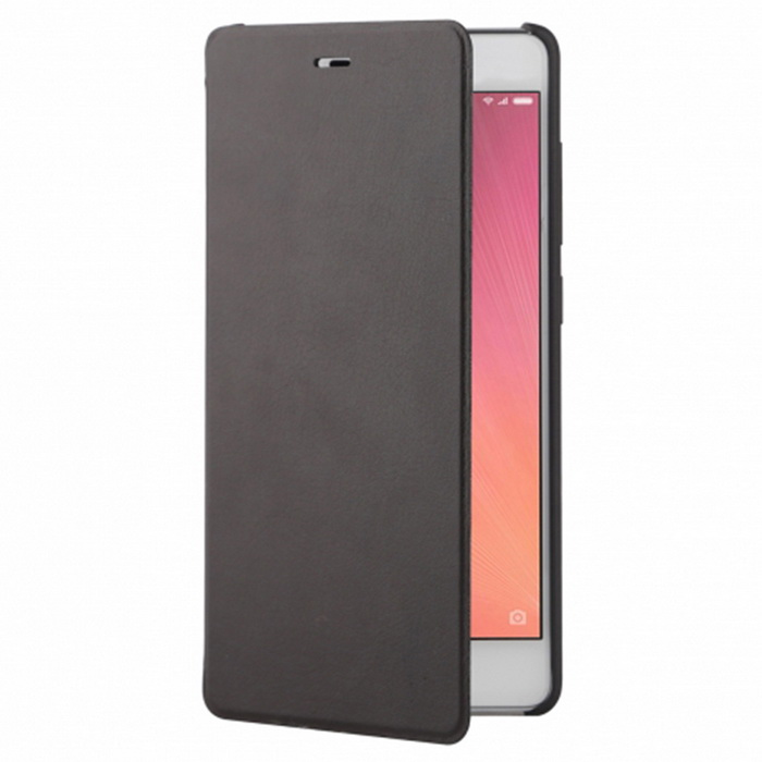Original PC + PU Flip Protective Case for XiaoMi Redmi 3 - Black