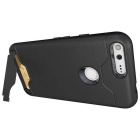 Shock-proof Back Case w/ Holder and Slot for Google Pixel XL - Black