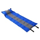 Thickening Automatic Inflatable Cushion Sleeping Bag - Blue + Grey