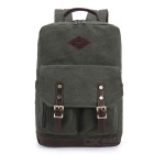 KAUKKO ZP20 15L Retro Style Unisex Canvas Backpack - Army Green