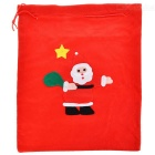 Santa Claus Pattern Christmas Gift Storage Pocket Pouch Bag