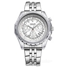 MEGIR 2006 Men's Quartz Analog Wrist Watch - Silver + White