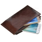 BLCR Leather Zipper Wallet Case for IPHONE, Samsung, Xiaomi - Coffee
