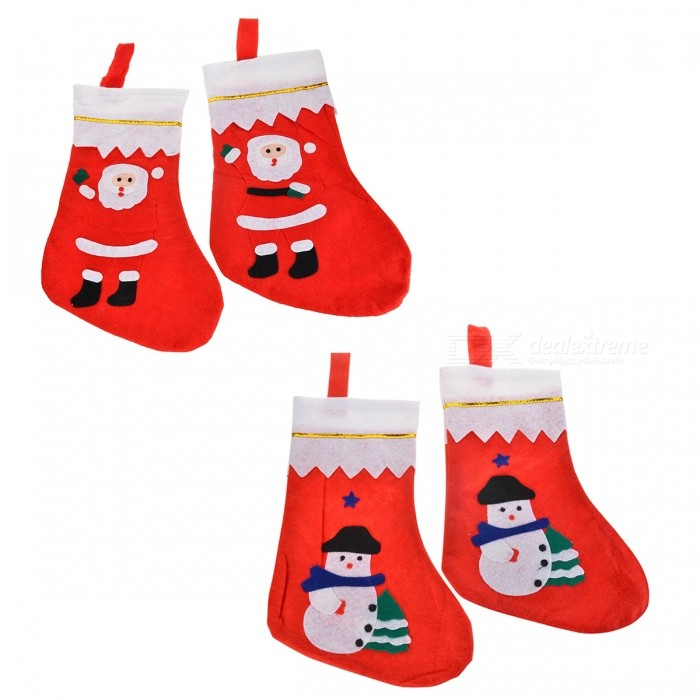 Christmas Decorative Non-Woven Fabric Socks / Gift Bags (1 Pair)Christmas Gadgets<br>Form ColorRed + MulticoloredMaterialNon-woven fabricQuantity1 DX.PCM.Model.AttributeModel.UnitSuitable holidaysChristmasOther FeaturesRandom pattern for deliveryPacking List2 * Socks<br>