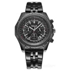 MS2006G/BK-1 Stainless Steel Band Alloy Case Luxury Sport Watch w/ Sub-dial for Decoration
