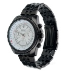 MEGIR 2006 Men's Quartz Analog Wrist Watch - Black + White