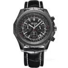 MEGIR 2007 Men's Quartz Analog Wrist Watch - Black