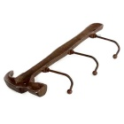 Retro Hammer Style Clothes Robe Hanger Hook Hallstand Hatrack - Coffee