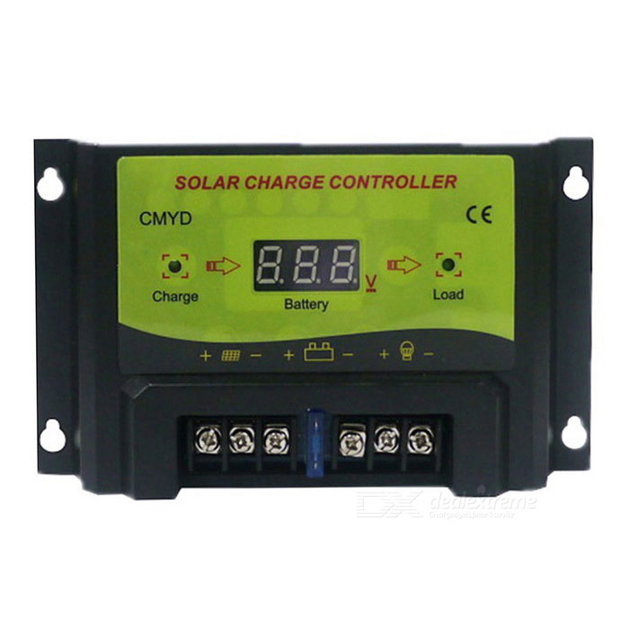 UEIUA CMYD 20A LCD Solar Powered Charge Controller - Yellow + Green