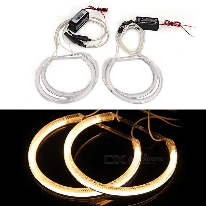QooK W610 CCFL 4W Angel Eye Ring Shaped Yellow Light Lamps (4 PCS)