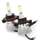 IP68 H13 / 9008 total luminoso 60W 6000lm LED farol lâmpadas 4-COB (dc 9 ~ 36V, 2PCS)