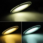 ZHISHUNJIA 18W 36-LED Dimmable Glass Cover Потолочный светильник -White + Black