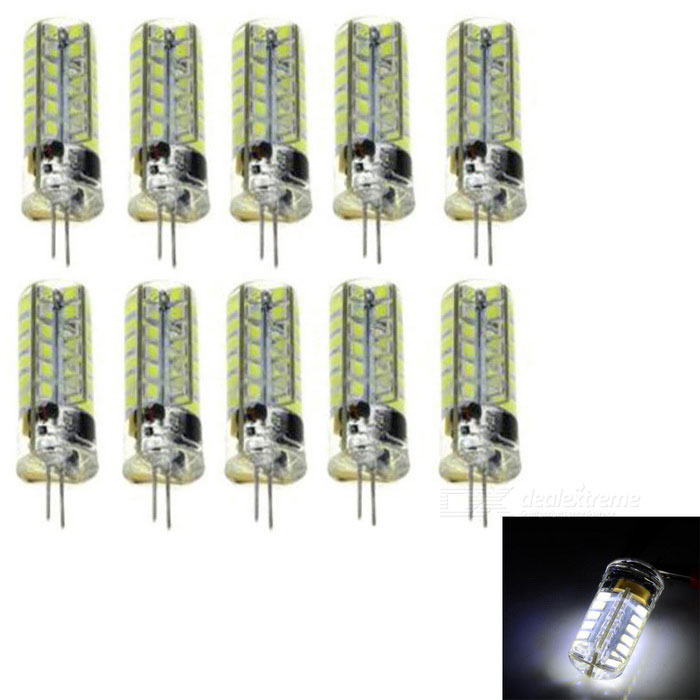 JRLED G4 5W LED Light Lamp Cold White 48-SMD 2835 (AC/DC12V 10PCS)