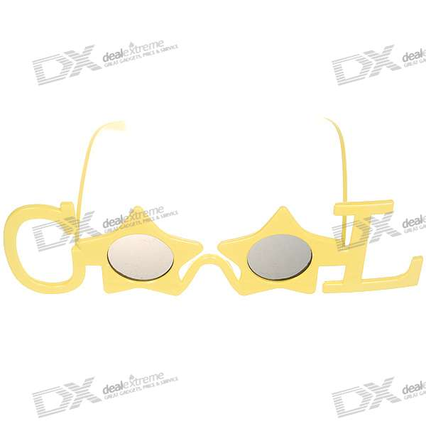 Decorative UV400 Protection Cool Letters Glasses (Color Assorted)