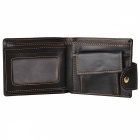 GUBINTU Cross Style Retro Zipper + Hasp Coin PU Pocket Wallet for Men