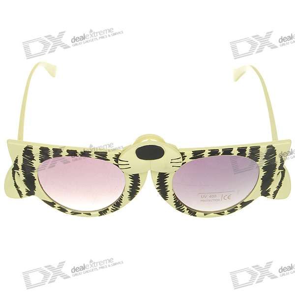 Decorative UV400 Protection Cat Figure Glasses (Color Assorted)