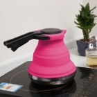 Outdoor Travel Kitchen Tool Folding Silicone Water Kettle - Deep Pink