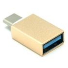 Mini smile USB 3.1 tipo-c macho a USB 3.0 adaptador OTG femenino - de oro
