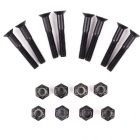 32mm Skateboard Longboard Inside Hexagonal Iron Bolts - Black (8PCS)