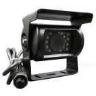 DC 12~24V Universal Bus Truck Van PAL Rearview CMOS Wired Camera w/ 18-IR LED Night Vision
