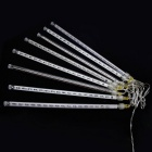 Joyshine 8 Tubes 144-LED 30cm Meteor Shower String Cold White Light
