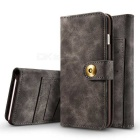 Cwxuan Magnetic Detachable PU Wallet Case for IPHONE 7 PLUS - Brown