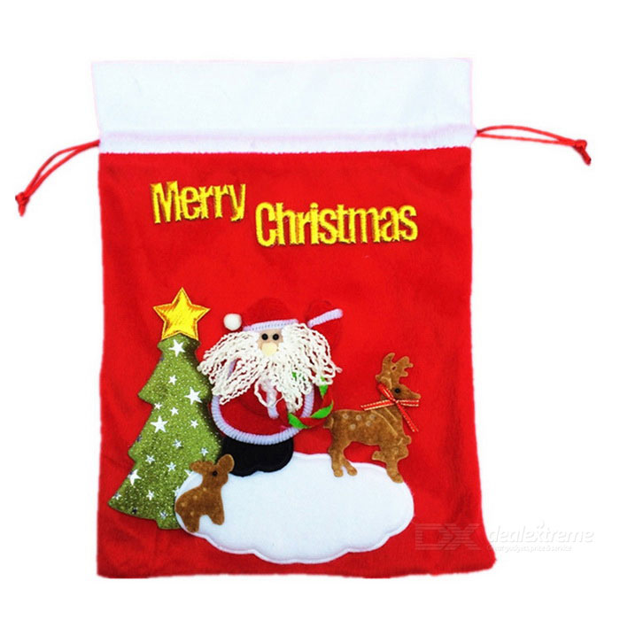 Cute Lovely Soft Cloth Christmas Gift BagStorage Box &amp; Bag <br>Form  ColorRedShade Of ColorRedMaterialFlanneletteQuantity1 DX.PCM.Model.AttributeModel.UnitPacking List1 * Gift bag<br>