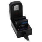 TELESIN 3-Channel USB Charger w/ 2 PCS Batteries for GoPro Hero4