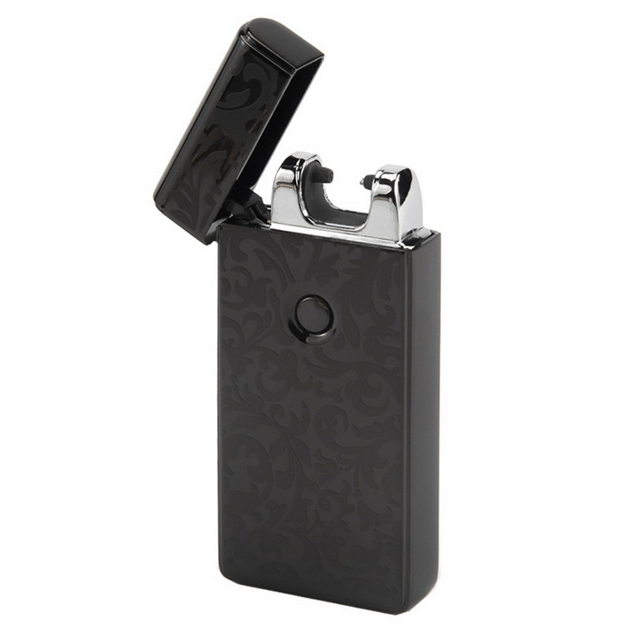 MAIKOU Single Arc USB Rechargeable Metal Pulse Lighter - Rich Black