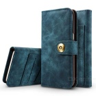 2in1 Magnetic Detachable PU + PC Flip Wallet Case Cover w/ Card Slots for IPHONE 7 PLUS - Sapphire