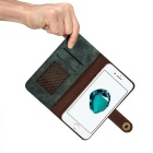 Cwxuan Retro Magnetic Detachable PU Flip Wallet Case for IPHONE 7 PLUS