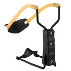 ABS + Steel + Rubber Slingshot Playing Toy - Black