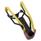 ABS + Steel + Rubber Slingshot Playing Toy - Brown