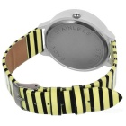 Zebra Pattern Fashion Quartz Analog Wrist Watch - Yellow + White