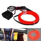 Jiawen 2m Flexible Car Decorative Red Neon Light com fio 2.3mm EL